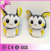 Cute cartoon toy Emolga custom stuffed pokemon plush doll, pokemon soft toys