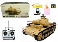 Heng Long 1:16 Scale TauchPanzer III Real RC Tank With Smoking 3849-1