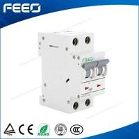 2015 High quality FE7-63 electric din rail 2 phase 1A 3A 6A 10A 16A 20A 25A 32A 40A 50A 63A mini circuit breaker mcb