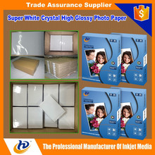 4R A4 Cast Coated Inkjet Photo Paper One Side Glossy Printing Paper