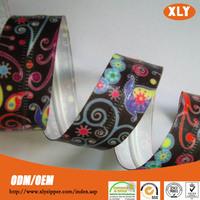 beautiful flower tape pvc/tpu material waterproof zipper