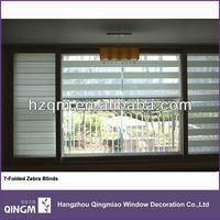 Best Seller Polyester 7-Folded Zebra Blind Fabric Supplier By QINGM