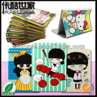 H&H for iPad cute case, for customized iPad case with stand PU leather case