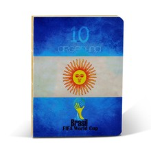 Hot sale A6 school/office notebook printed india world-cup 2015