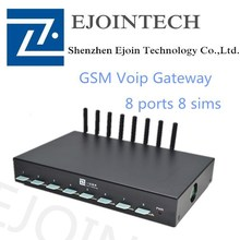 Ejointech 8 ports 8 sims goip gateways sms gateway gsm gateway Caller ID Hidden