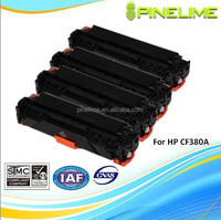 Best selling products, Compatible color toner cartridge for HP CF380A ,CF380X CF381A CF382A CF383A CF 380A