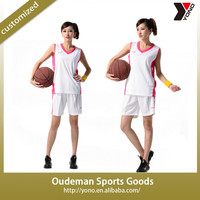 2015 Factory price wholesale customized team v neck ladies basketball jersey