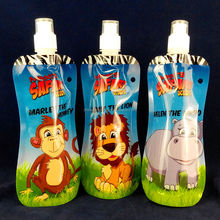 Cartoon bottle with carabiner for water