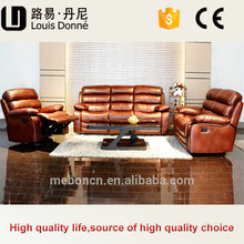 Shenzhen Furniture Living Room Leather/ Leather air recliner sofa set prices 1513
