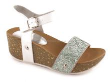 2015 Summer New Women Sandal Wedges Open Peep Toe Black Casual Wedge High Heels