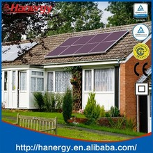 Hanergy pitched roof solar energy products with 130w cheap solar panel