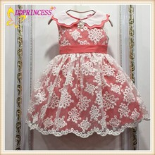 2015 new design girls lace dress kids dresses online shopping with Collar