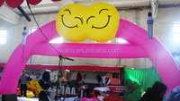 2015 CE customized wonderful inflatable wedding arches/inflatable balloon arch