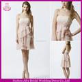 sd1746 chiffon branco e rosa vestido de noite curto adolescente vestidosdedamadehonra duas cores