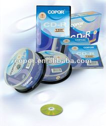 high quality cd, 52x, 80minitues,with slim case pack