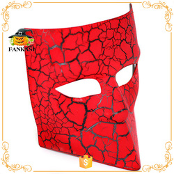 Unique style red crackle carnival mask