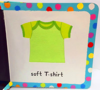 FDT customized new style baby education cloth touch and feel board book printing