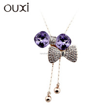 11042-2 OUXI New arrival women's 18k gold chain necklace
