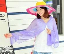 summer polyester chifon shawls for UV