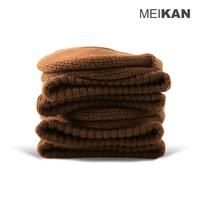 MEIKAN Brand New Cushioned Crew Socks Magic Loop Terry Fluffy Sox Mens Used Socks Walking Cushioned Socks Coffee