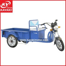 Family Used Blue Electric Cargo Tricycle On Sales In China For Retail Goods / Delivery Electric Bike