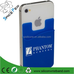 card holder silicone 3M Sticker smart phone wallet for smartphone