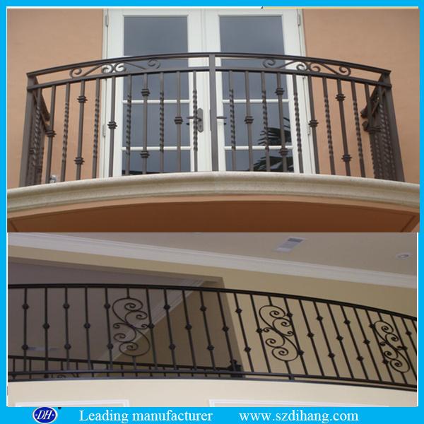 Wholesale Wrought Iron Railings Metal Railing Outdoor Stairs Prefab Metal Stair Railing