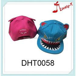 Top Quality Embroidered Promotion Custom monster teeth kids snapback cap,,ear baseball cap