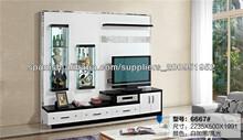 LED sala de televisión Estructura de la unidad La vida moderna muebles de madera de pared