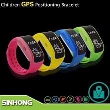 Christmas Gift Silicone Rubber Wrist Watch GPS Tracking Device For Kids