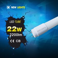 Fashinoable smd 2835 IC driver cool white with CE RoHS CB certificated 150cm 22w t8 led tube light
