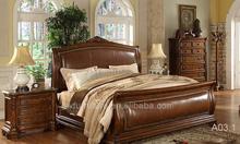 fabricante de la venta caliente de diseño clásico de madera de la cama
