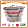 Promotional striped beach bag with rope handle