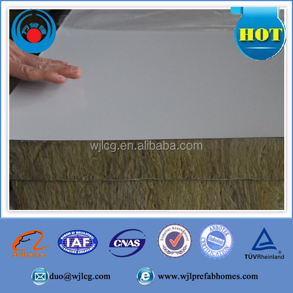 Fire Rated Insulated Rockwool Corrugated Sandwich Panel