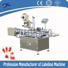 plastic bag labeling and separating machine for thin material
