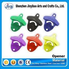 crazy hot sale type custom colors bottle opener colorful electroplating wall mounted bottle opener