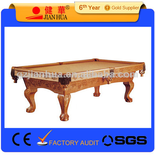 nuevo estilo para el hogar tallada mesa de billar