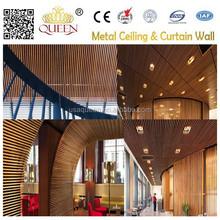 Aluminum U shape Wood finish baffle Ceiling