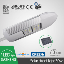 DC power IP65 30W solar led street light with ce rohs