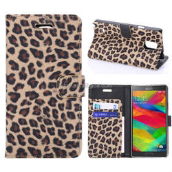 Leopard Leather Flip Case for Samsung Galaxy Note 4 ,Leopard Wallet Case Leather For Samsung Galaxy Note 4