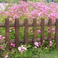 outdoor wooden garden edging fence