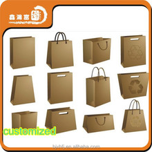 Customized good quality brown kraft food paper bag