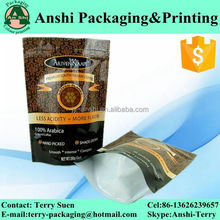 Custom print ziplock resealable plastic/aluminum foil stand up waterproof pouch