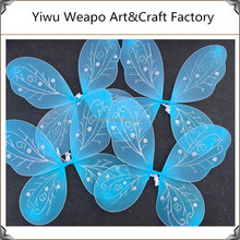 2015 fashion stage performance fairy butterfly wings costume sky blue angel wing BW-303