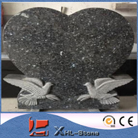 China black color granite cemetery bench monument
