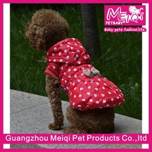 Luxury polka dot pattern small dog coats for winter