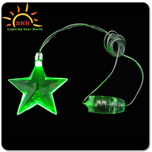 Plastic colorful light up glowing LED necklace for party