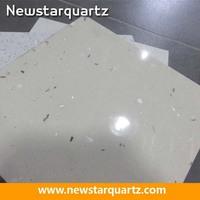 Artificial quartz, white composite stone, quartz composite tile
