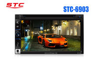 6.95'' double din car radio with deck CE ROHS FCC approved stc-6903