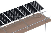 Steel solar ground PV mounting rack system